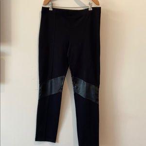 VS black legging W/ faux leather knee detail
